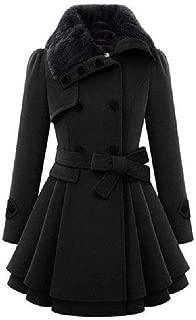 neveraway Women's Swing Warm Jackets Outwear Fit Double-Breasted Pea Coat