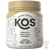 KOS Organic Chia Seed Powder - Raw, Ground Chia Seed Powder - USDA Organic, Gluten Free, No Preservatives, No Additives, Plant Based Ingredient, 352g, 110 Servings