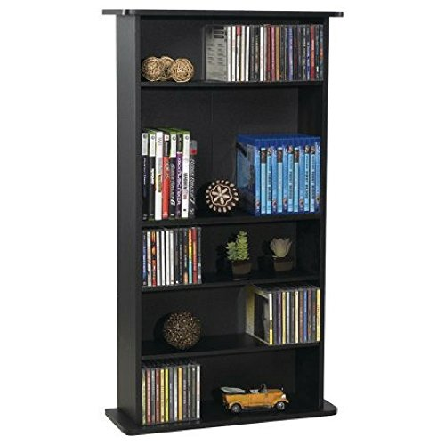 Atlantic Drawbridge 240 CDs & DVD Multimedia Cabinet- Shelf