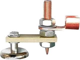 EKIMI Small Magnetic Welding Ground Clamp Holder - Copper Tail Welding Stability - Strong Magnetism Large Suction - Single Magnet
