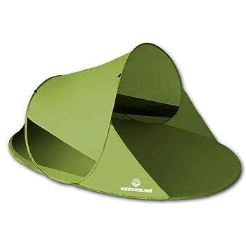 outdoorer Pop up Strandmuschel Zack II - Wurf-Strandmuschel mit UV-Schutz 60, Sonnenschutz und Windschutz am Strand