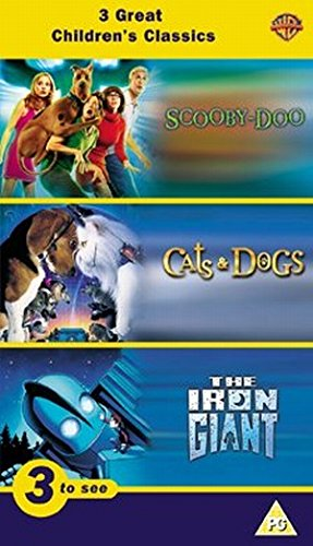 Vhs Triples - Cats & Dogs/Scooby Doo/the Iron Giant