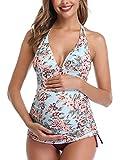 Traje de baño de Maternidad Verano Mae triángulo Halter Bikini Rojo Vino Small