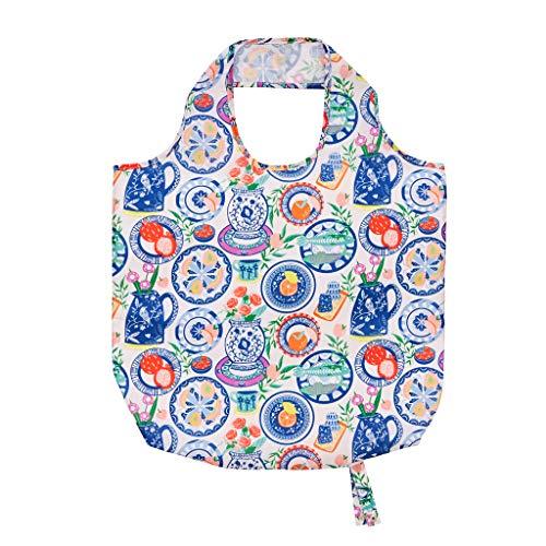 Ulster Weavers Einkaufstasche mit mediterranen Tellern, wiederverwendbar, verstaubar