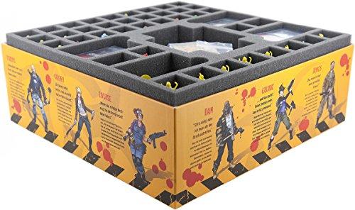 Feldherr Schaumstoffeinlage Set kompatibel mit Zombicide Staffel 3 Rue Morgue