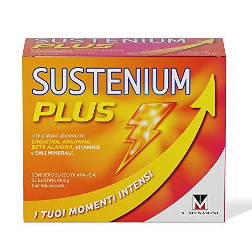 Sustenium Plus - L Integratore Tonico A Base Di Vitamine, Sali Minerali E Con L Aggiunta Di Creatina Per Avere Sempre Il Massimo Dell Energia. Confezione Da 22 Bustine Da 8Gr. - 176 g