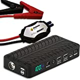 Rugged Geek RG1000 INTELLIBOOST 1000A Portable Auto Jump Starter and Power Supply with LCD Display. USB Laptop Charging. Emergency Auto Jump Box for 12V vehicles such as Cars, Trucks, SUVs and more