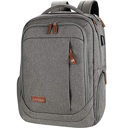 HMMHHE Viaje portátil mochila portátil mochila grande la mochila de la computadora se adapta a una computadora portátil de hasta 17.3 pulgadas con USB Puerto de carga Puerto Agua Repelente Escolar Via