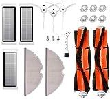MTKD Kit 17 Recambios para Roborock S50 S51 S55 S5 S6 - Accesorios para Xiaomi MI Mijia Robot Aspiradora - Cepillo Principal, Cepillo Lateral, Filtro HEPA y Mopa.