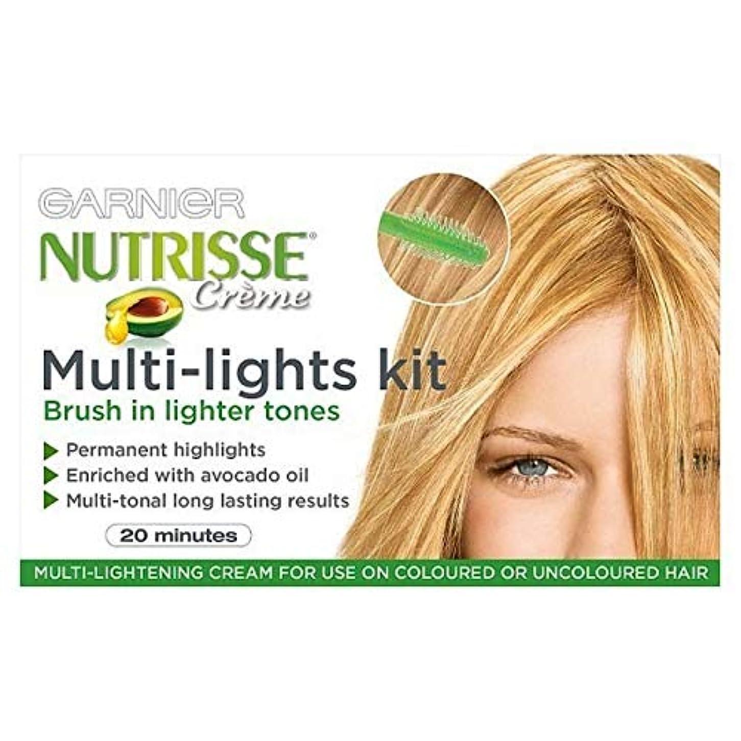 骨折落ちた福祉[Garnier ] ガルニエNutrisseハイライトキットマルチライト永久 - Garnier Nutrisse Highlights Kit Multi-Lights Permanent [並行輸入品]