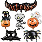 Miss Good Juego de Globos de Halloween Bat Halloween, Spider, Bat, Pumpkin Ghost, Skull Ma...