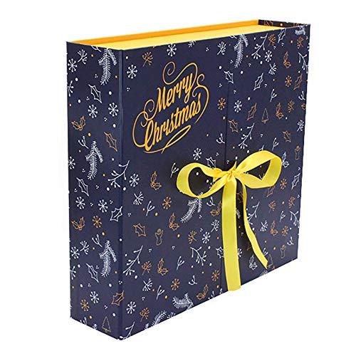 househome Calendario de Adviento de Navidad, calendario de Navidad DIY con cuenta atrás, 24 cajas para Navidad, caja de regalo para casa y amigos, 33 x 30,5 x 8,5 cm