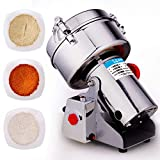 1000G Stainless Steel Electric High-Speed Grain Grinder Mill for Multifunctional Grain Coffee Spice Cereal Herbal Medicine Chinese Pulverizer,Gb 220v