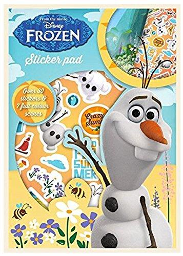 Disney La Reine des neiges Olaf Autocollant Pad Couleur scènes et plus de 30 Stickers