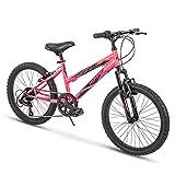Huffy Kids Hardtail Mountain Bike for Girls, Summit Ridge 20 inch 6-Speed, Solar Flare