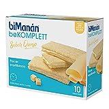 BiManán be KOMPLETT Sándwich con relleno sabor a queso. Rico en fibra y con 12 vitaminas - Caja con 10 unidades
