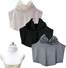 Teemall Women's Faux Turtleneck Dickey Collar Half Top Mock Blouse Neck Cover (3pc)