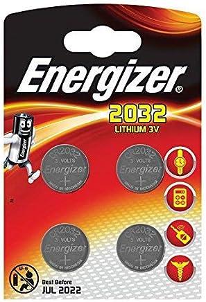 Energizer 2032 Lithium-Knopfzelle, 4er-Pack