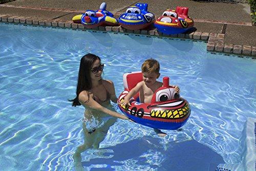 Poolmaster Learn-to-Swim Baby Swimming Pool Float Rider, Tug Boat