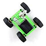 Newdiva Mini Solar Power Toy Car Racer - Plastic Engineering Car Gadget Trick Novelty Educational Toy for Kids - Gift for Birthday Children's Day Christmas for Kids Over 6 Years Old