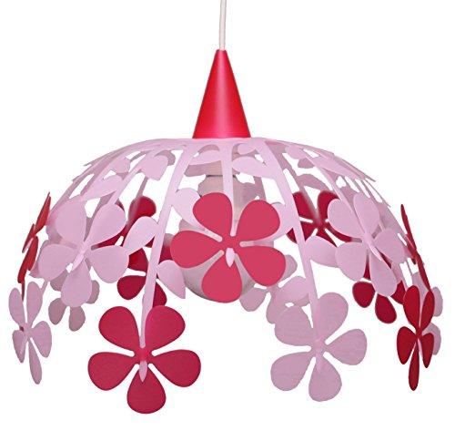 R & M Coudet plafondlamp voor kinderkamer bos bloemen ivoorkleurig framboos en limoen Framboise et Rose