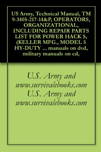 US Army, Technical Manual, TM 9-3405-217-14&P, OPERATORS, ORGANIZATIONAL, INCLUDING REPAIR PARTS LIST FOR POWER HACK S, (KELLER MFG., MODEL 5 HY-DUTY SA), ... military manuals on cd, (English Edition)