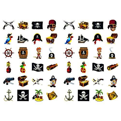 Oblique Unique® Piraten Sticker Set 48 Kinder Aufkleber - Verschiedene Piraten Motive Kinder Geburtstag Spielen