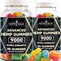Hemp Gummies by NEW AGE - Great for Stress Relief - Sleep Aid and Reduce Inflammation - Calming Strength Gummy for Adults - Natural Hemp Oil Infused Gummies -180 Count- 2 Pack
