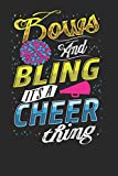 Bows and Bling it's a Cheer Thing: Cheerleader Notebook Journal, Composition Book College Wide Ruled, Gift for Coach, Cheerleader, or any Cheerleading ... For Men Women Boys Girls Kids Toddler
