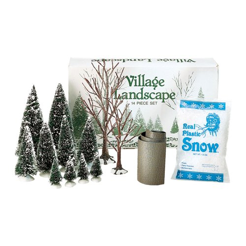 Department 56 Accessories for Villages Landscape Accessory Set