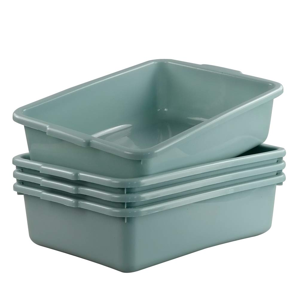 Utiao 4 specialty shop Max 59% OFF Pack Versatile Plastic Bus 14. Tubs Commercial Box