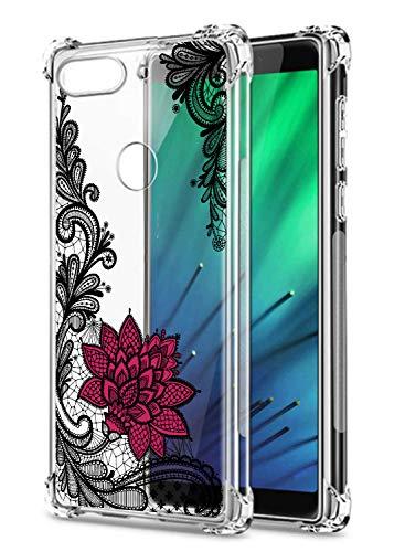 Oihxse Transparent Coque pour Xiaomi Mi 5X/Xiaomi Mi A1 Souple TPU Silicone Protection Etui Air Cushion [Shock-Absorption] [Anti-Rayures] Fleurs Motif Housse Bumper (B6)