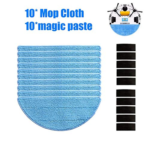 Learn More About Vacuum Cleaner Parts 10 Mop Cloth +10Magic Paste Accessories for Ilife V50 V55 V5 V...