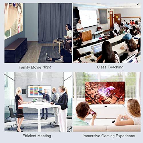 CableCreation USB C zu HDMI Kabel(4K@60Hz), 1.8M Typ C auf HDMI Kabel HDR Unterstützt, Kompatibel mit MacBook Pro/Air, iPad Pro, Dell XPS 13, Samsung S10, Huawei P20, Projektor, Monitor usw. Schwarz