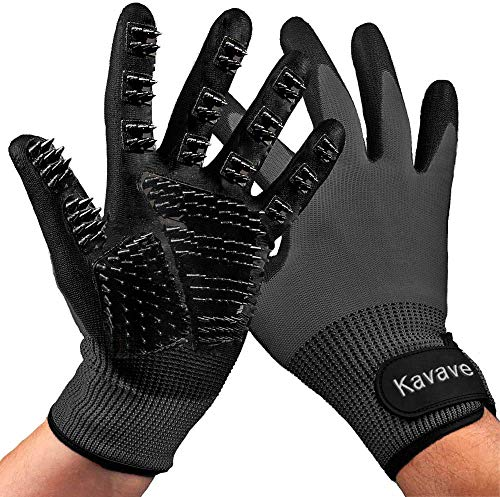 Pet Grooming Gloves - Pet Hair Remover for Cat and Dog - Premium Pet Gloves for Hair Removal,Brush for Shedding, Dogs,Cats Horses Removes Tangles and Dirt for Long Fur Coats Pet Gloves - Dog Glove