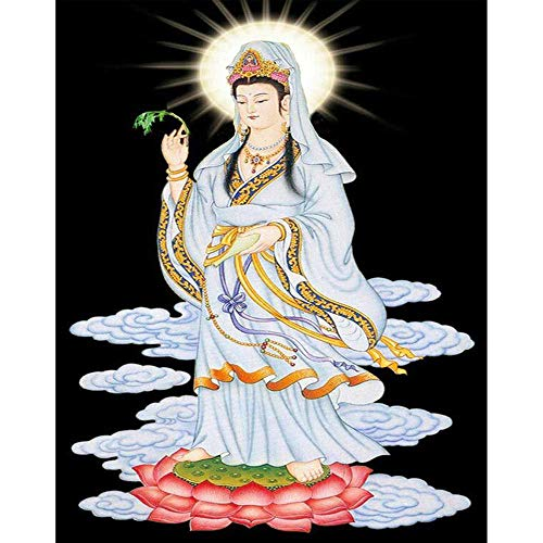 DIY 5D Diamond Painting Buddha by Number Kits Full Drill Rhinestone Embroidery Pictures Arts Craft Home Wall Decor 12 X 16 Inches