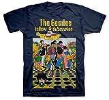 The Beatles Yellow Submarine Men's Navy T Shirt Camisetas y Tops(XX-Large)