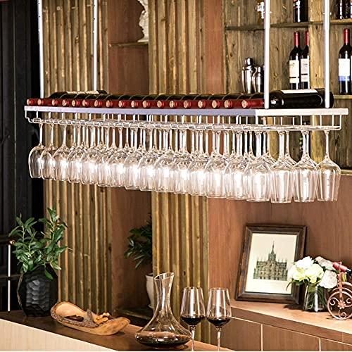 Muebles para el hogar Estante de vino Estante de almacenamiento de vino Estante de hierro para copas de vino Estante de decoración de techo Vajilla Soporte de exhibición de copa de vino para el hog