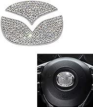 MAXMILO Steering Wheel Bling Crystal Shiny Diamond Accessory Interior Sticker for Mazda cx-4 cx5