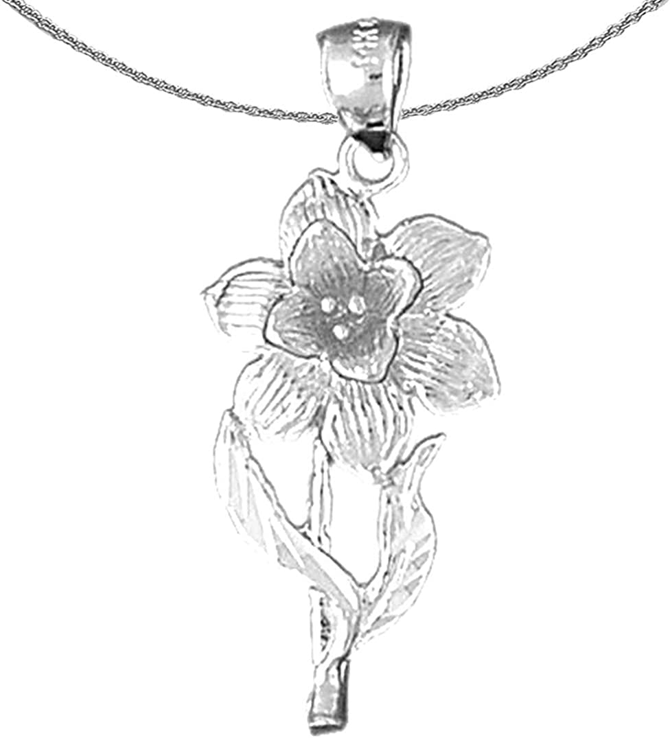 Jewels Obsession At Japan's largest assortment the price Gold Flower 14K Daffodil White Necklace