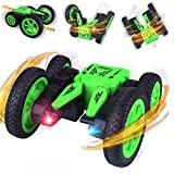 STARTOGOO RC Coche Teledirigido Stunt Toy Car 4WD with Doble Lado Rotación de 360° Grados de Alta Velocidad 2.4GHz Control Remoto Tracks Off Road Truck Coches para Niños LQ71