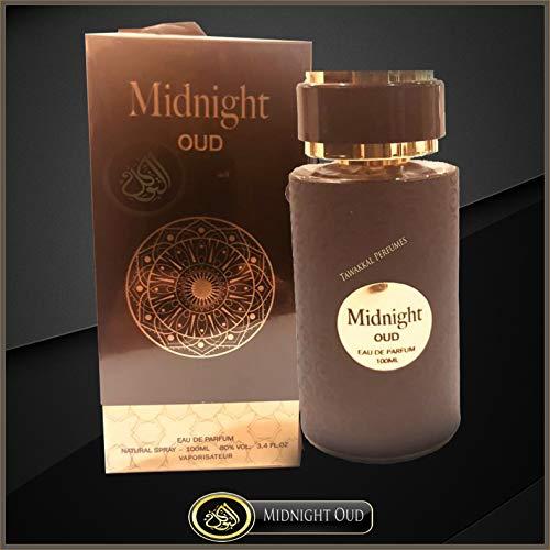 Perfume Midnight Oud 100 ml EDP por Fragrance World Spicy Labdanum Myrra Vanilla Wood – Colección de fragancias deliciosas