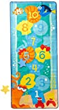 Gertmenian Dory Hopscotch Game Kids Play Rug, Aqua Blue
