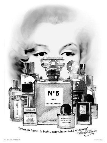 MARILYN MONROE kanaal No 5 Pop Art Poster Kunstdruk Pruik Chanel (5