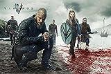 Pster Vikigs/Vikingos 'Blood Landscape' (Paisaje Sangriento) (91,5cm x 61cm) + 1 pster sorpresa de regalo