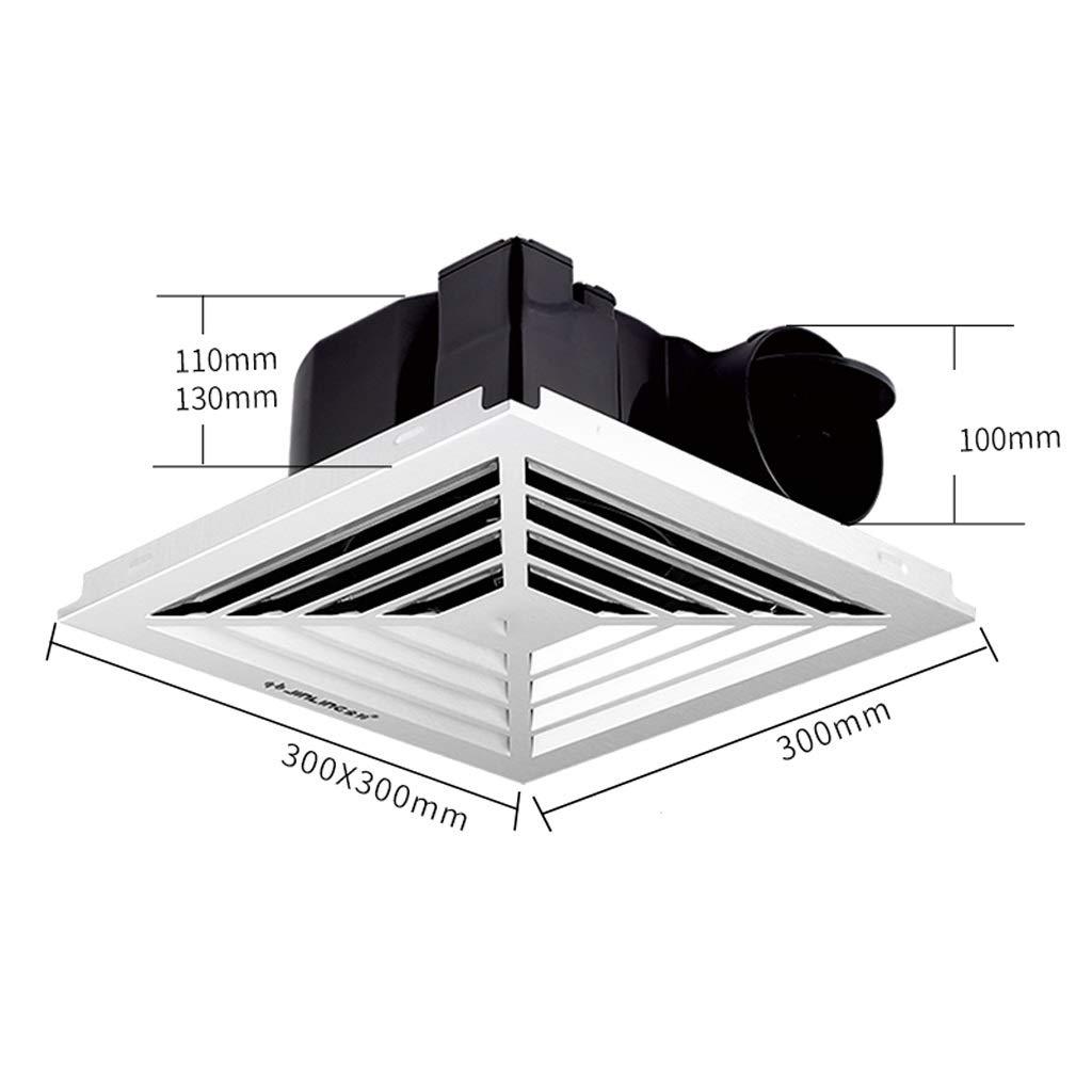 QIQIDEDIAN Ventilador de Escape 30x30 baño Extractor de ventilación Ventilador de Techo Integrado Tubo de Techo Techo de Aluminio Placa de Hebilla: Amazon.es: Hogar