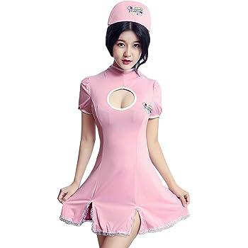 HNGPB - Disfraz de enfermera sexy para mujer, color blanco, rojo y ...