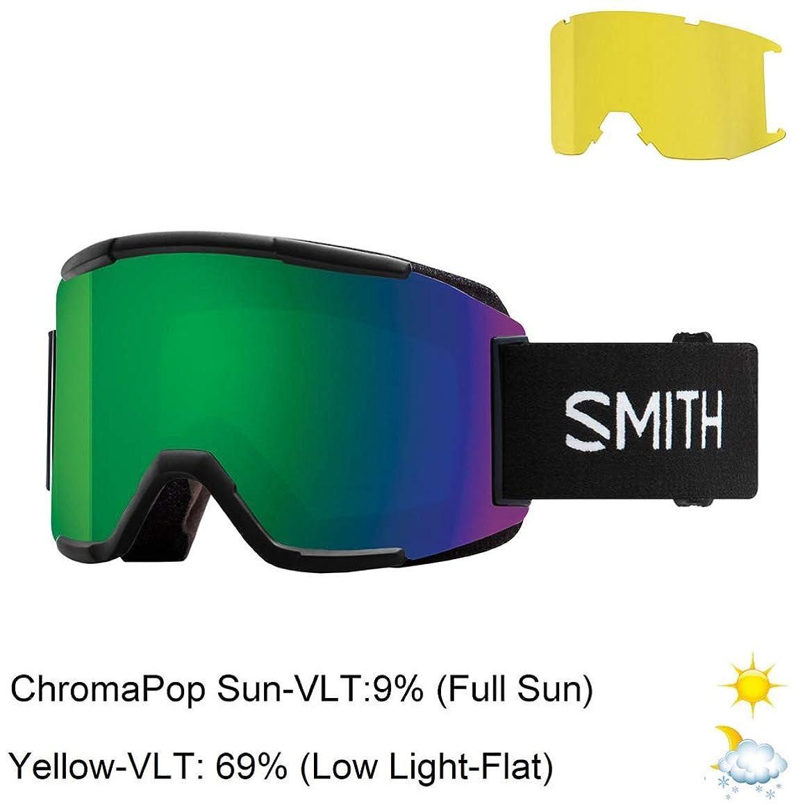 Smith Optics Squad Adult Snow Goggles - Black/Chromapop Sun Green Mirror/One Size