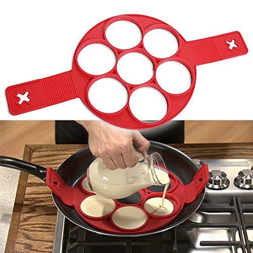 Hieefi Spiegelei Crêpière, Nonstick Kochen Werkzeug Rund Herz Pancake Mold Eierkocher Ei Omelette Mold Küche Geräte Zufällige Farbe