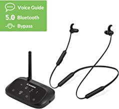 [ 2020 ] Avantree HT5006 Wireless Headphones Earbuds for TV Watching, Neckband Earphones Hearing Set w/Bypass Bluetooth Transmitter for Optical Digital, RCA, 3.5mm Ported TVs, Plug n Play, No Delay